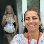 Veronica and volunteer, Lisa Drew